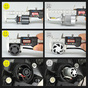 Image 4 - Bombilla de faro delantero de coche H4 LED H1 H3 9005 9006 HB4 H13 9004, 9007, 880, 881 H27 Led Auto lámpara de luz 12V Lampada H7 24V H11 12000LM 6000K
