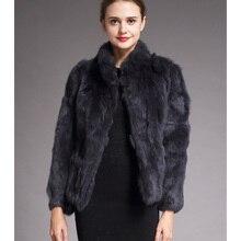 High Quality Real Fur Coat Fashion Genuine Rabbit F