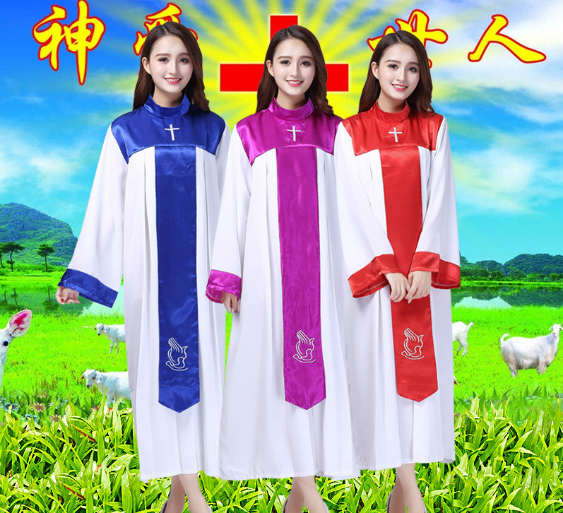 Christian Church Choir Dress Women Christian Sing Jesus Class Service Wear Wedding Hymn Holy Garments Nun