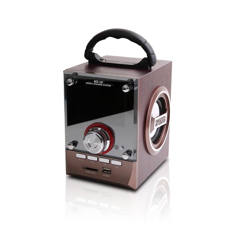 TRANSCTEGO Mini Přenosný reproduktor dřevo Reproduktory Subwoofer Rádio U Disk SD karta Outdoor High Voice