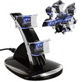 Quick Dual USB Charging Dock Stand Charger LED Light for PlayStation 3 PS3 Controller Console Gamepad