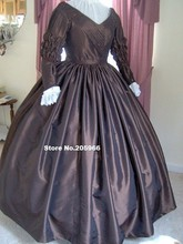 Custom Made – 1800s Victorian Dress 1840s Day Gown – Charles Dickens Reenactor Bridal Princess Tea Costume/Theater Dress