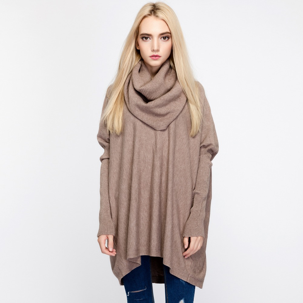 New Autumn Women Sweater Winter Scarf Collar Long Sleeve Pullovers Fashion Casual Jumper Christmas Sweater Jersey Mujer Invierno