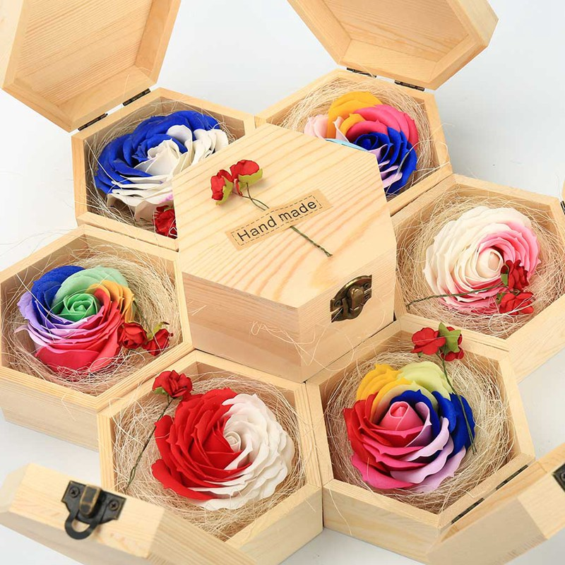 3 styles Storage Box Heart Shape Wood Box Jewelry Box Wedding Makeup Cosmetic Earrings Ring Desk Rangement Flower Lover Gift