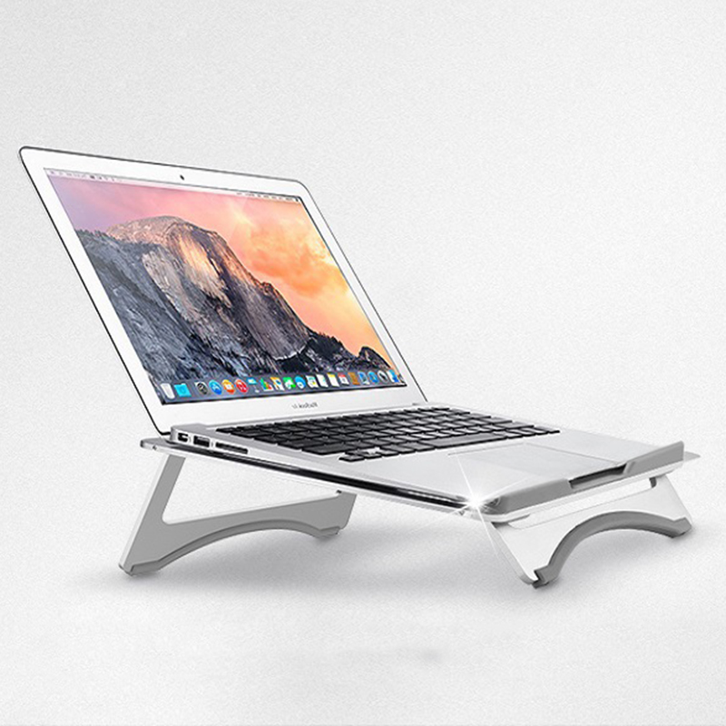 Mobile Phone Accessories Systematic High Quality Laptop Stand Cooling Base Foldable Notebook Office Desk Cooler Holder Bracket Portable Tablet Aluminum Alloy Buy One Get One Free