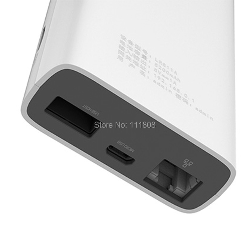 New LTE GSM 4G Wifi Router Wireless Dongle Mifi with 5200mAh Power Bank two SIM Card Slot RJ45 Port Modem Function Global Unlock