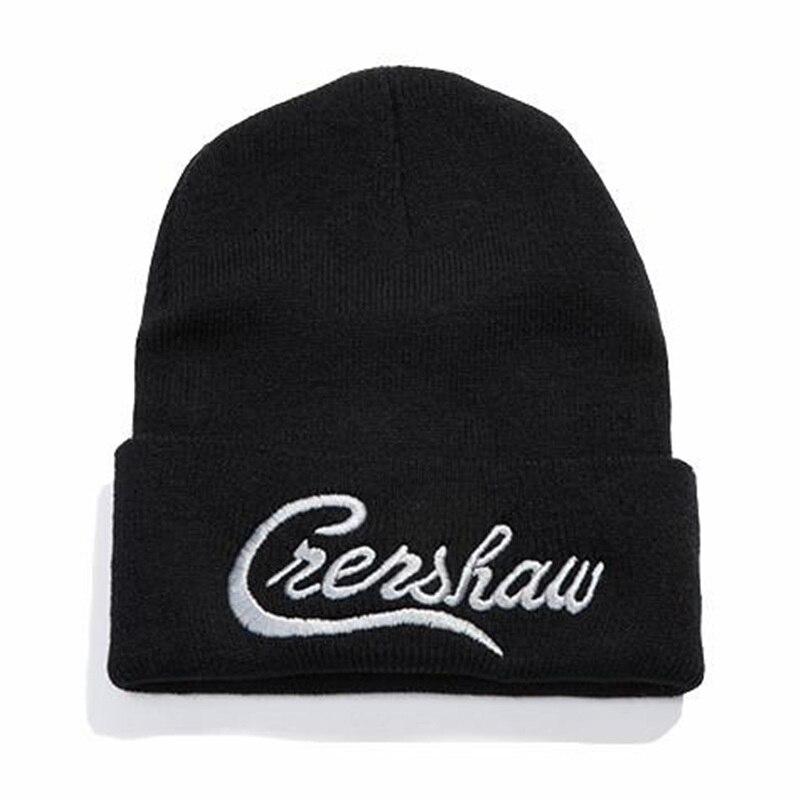 Dropshipping Crenshaw Casual Beanies For Men Women Knitted Winter Hat Solid Hip-hop Skullies Hat Bonnet Unisex Cap