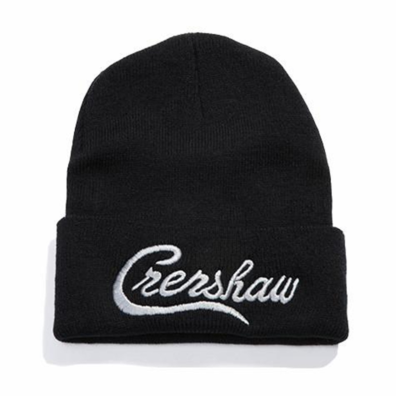 Dropshipping Nipsey Hussle Crenshaw Casual   Beanies   for Men Women Knitted Winter Hat Solid Hip-hop   Skullies   Hat Bonnet Unisex Cap