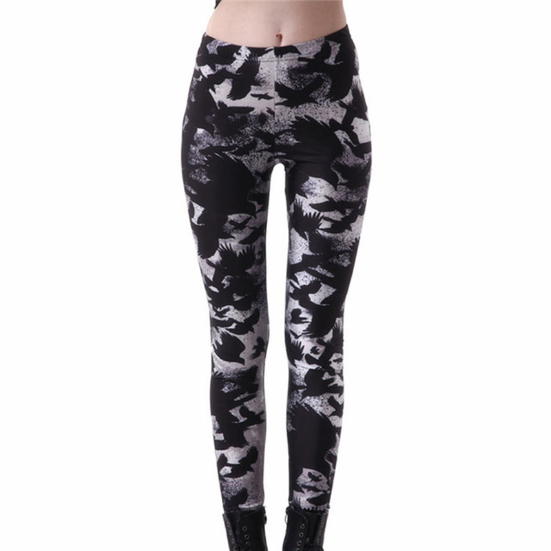 Plus Size Compression Casual Legging For Women Black Milk Crow Legging High Elastic Waist Fitness Leggins Workout Leggings Pants