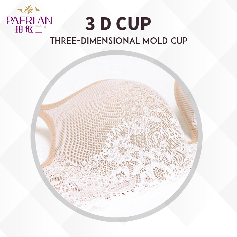 Image 4 - PAERLAN Seamless Wire Free lace bra small breasts Push Up One   Piece sexy Back Closure Tow Hook   and   eye underwear Women Cup-in Bras from Underwear & Sleepwears
