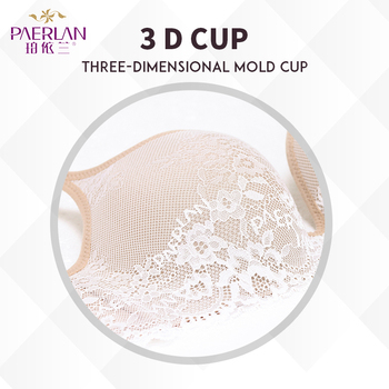 76c3b741aa HomeSUPPORT TYPEUnderwire-Free PAERLAN Seamless Wire Free lace bra small  breasts Push Up Bra