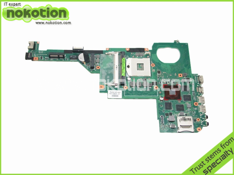 NOKOTION Laptop motherboard For Hp Pavilion dv4-5000 Intel hm77 DDR3 With GeForce GT650M 2GB Graphics 684215-001 nokotion laptop motherboard for hp pavilion dv4 5000 intel hm77 ddr3 nvdia geforce gt630m 1gb graphics 676759 001