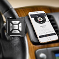 Wireless Bluetooth Car Steering Wheel Remote Controller Bike Motorcycle Bike Handlebar Multimedia Remote Universal Black