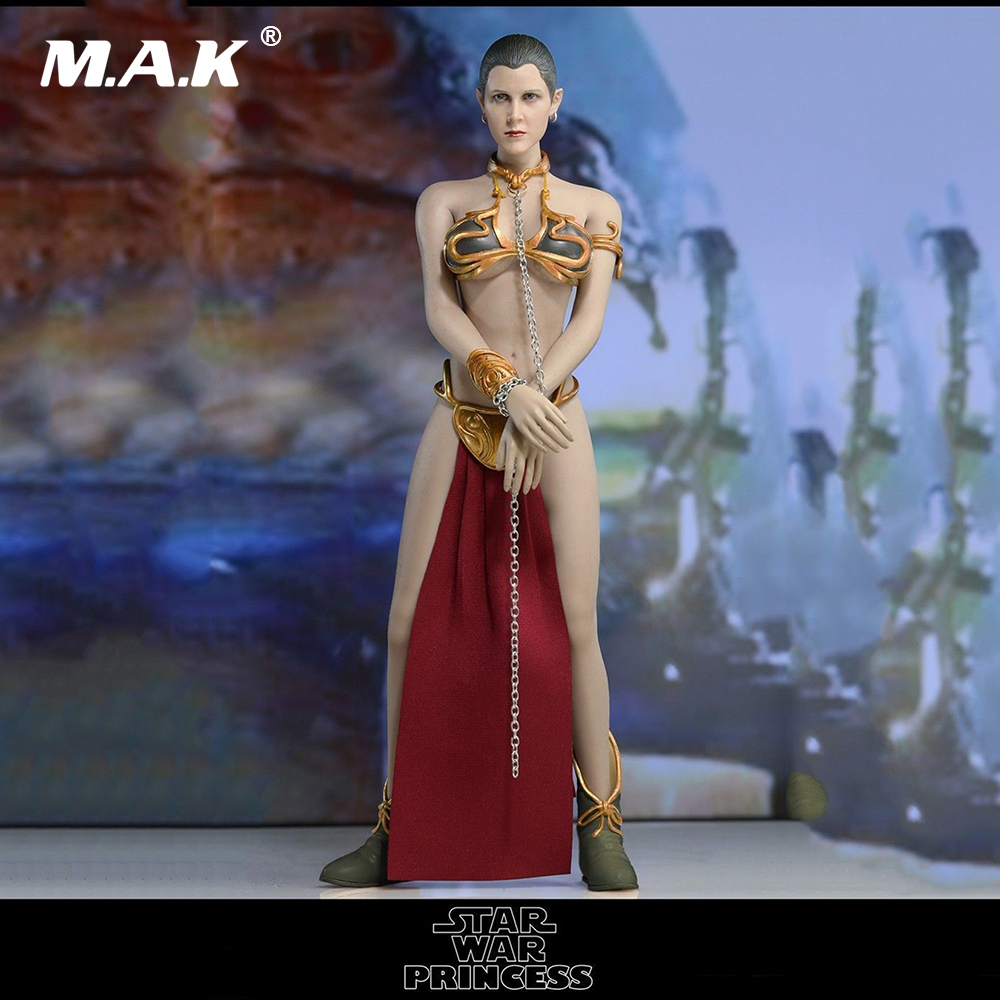 купить DIY 1/6 Female Full Set Action Figure Star Wars The Princess Leia Clothes Set & Head & Phicen Seamless Body for Fans Collection онлайн
