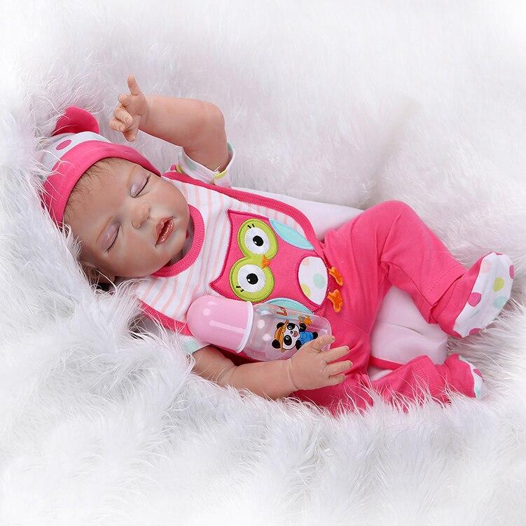 New 23 Inch/57cm Girls Gender Full Silicone Body Reborn Baby Dolls Baby-reborn Children Bebe Toys Bonecas Juguetes Brinquedos