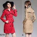 2017 Winter Women Lace Trench Coat British Middle Long Double Breasted Trench Coat Brand With Belted Elegant Outerwear