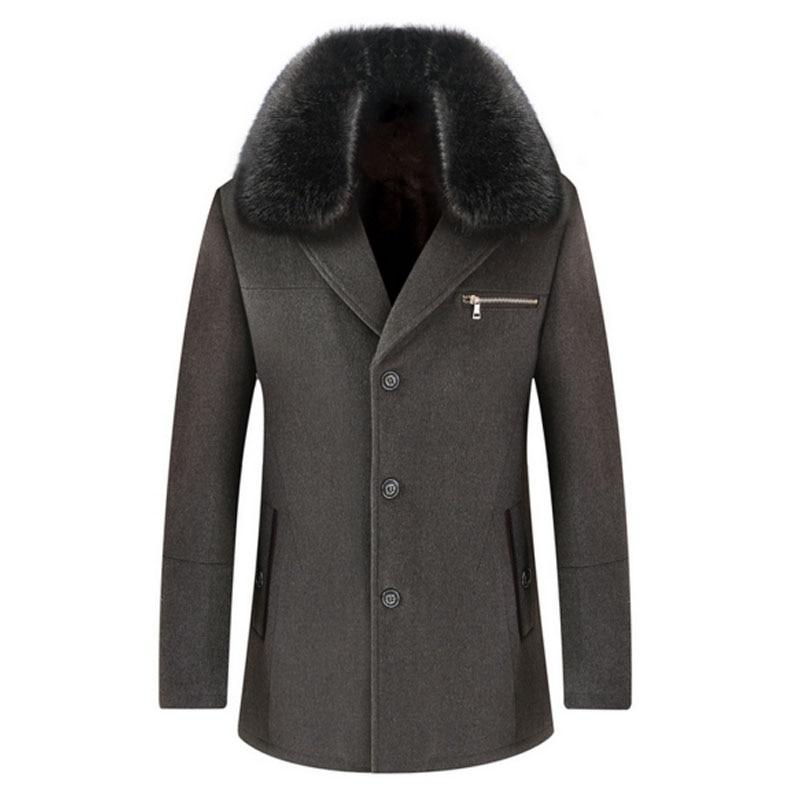 Mens Fleece Pea Coat Promotion-Shop for Promotional Mens Fleece ...