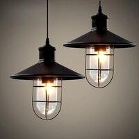European Style Restoring Ancient Ways Wrought Iron Pendant Lights E27 110V 220V Loft Restaurant Factory Library