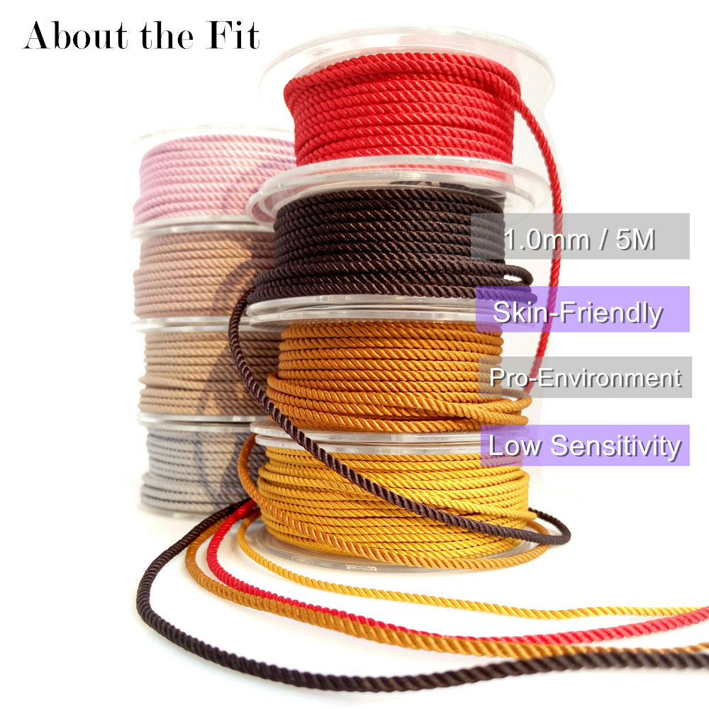 About the Fit 1mm 5M Milan Braided Silk-Like Cords DIY Jewelry Accessories Twine Beading Threads HandCrafts Findings Woven Lace
