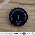 Nova! 50 pçs/lote LIR2032 3.6 V Li on recarregável botão Coin Battery celular pode substituir CR2032 para relógios