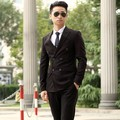 New /customize retro man's slim bussiness suits double-breasted bridegroom suits formal Mens Suit Ball gown(jacket+ pants+ tie)