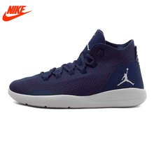 Intersport Authentic New Arrival NIKE Men's Breathable Basketball Shoes Sneakers Dark Blue