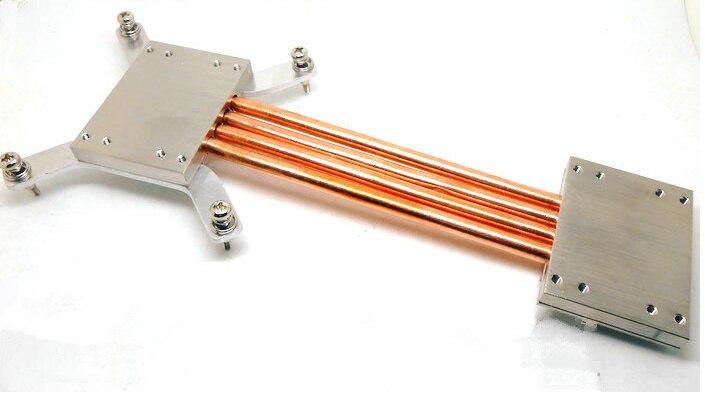 Livraison gratuite 1155 1150 250mm caloduc radiateur bricolage kits coordonner avec tous les châssis en aluminium construire muet ordinateur CPU radiateur aileron