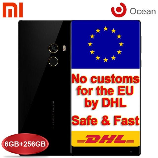 Оригинал Xiaomi Mi Смешивания Pro 6 + 256 ГБ Мобильный Телефон Snapdragon 821 6.4 ''FHD Edgeless Дисплей 16MP Смартфон Android