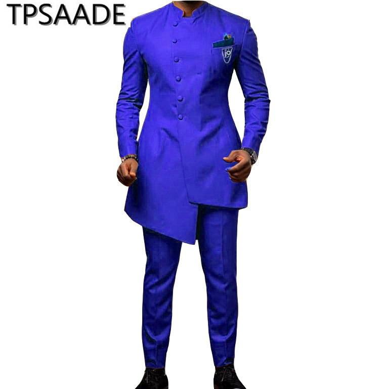 jacket pants male suit set costume white embroidery jacket blazer slim pants host stage wear