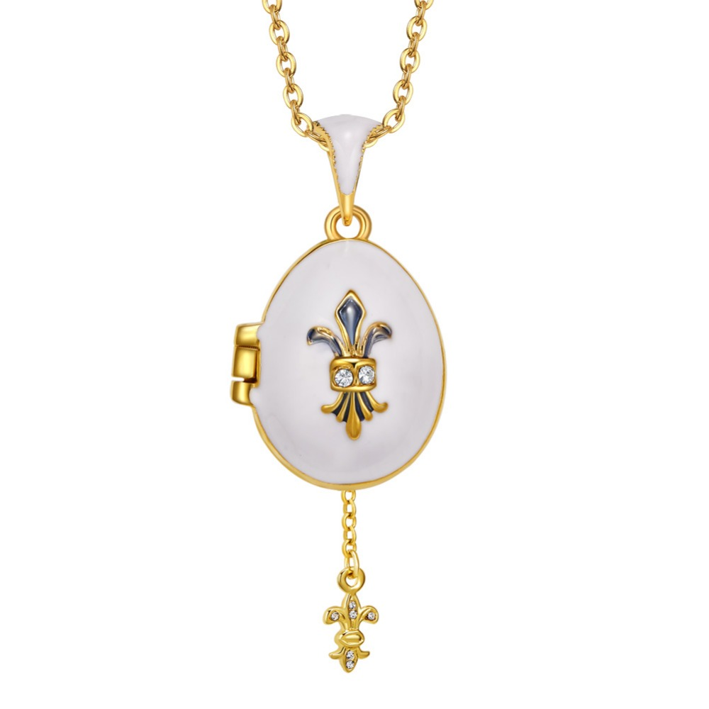 Smart Hottest Jewelry Brass Enamel Handmade Russian Easter Sword Vintage Egg Pendant Charm Necklace Gift To Women Or Girls 2019 New Ture 100% Guarantee Necklaces & Pendants