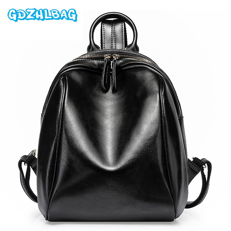 Women Mini Backpack High Quality Genuine Leather Backpacks for Teenage Girls Female School Shoulder Bag Bagpack Mochila B24803