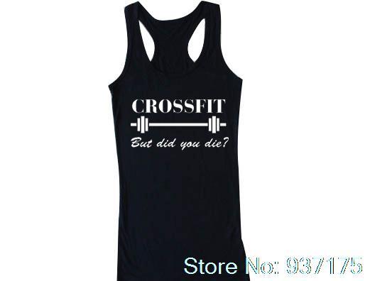 1c4026340ce76 Crossfit But Did You Die Tank Funny Crossfit top Unisex Womens T-shirt Crop  Tank