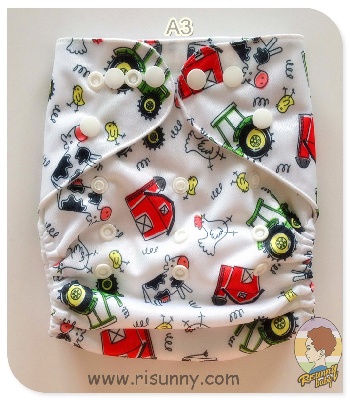 FREE Shiping  Promotional= Cloth Diaper + Bamboo Insert (5layer)  Risunnybaby Baby Cloth Diaper Factory Price