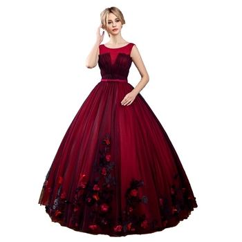 100%real wine red black veil ball gown court medieval dress renaissance Gown queen Victorian /Marie/drama/ball