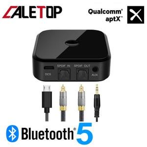 Image 1 - Беспроводной ресивер и передатчик CALETOP APTX, Bluetooth 5,0, для ТВ, ПК, динамиков, Hi Fi аудио 3,5 мм, SPDIF, оптическое волокно