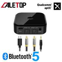 CALETOP APTX Bluetooth 5.0 adaptateur récepteur et transmetteur sans fil pour TV PC haut-parleur HIFI Audio 3.5mm SPDIF Fiber optique