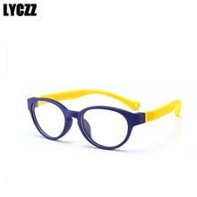 9153a1f5c26 LYCZZ الأطفال TR90 مرنة البيضاوي النظارات الاطفال قصر النظر وصفة طبية  النظارات البصرية إطار واضح وصفة طبية نظارات