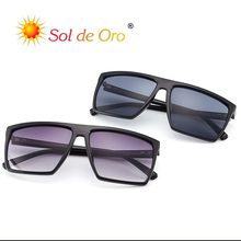 SOL DE ORO Retro Square Skull Sunglasses Men And Women Coupl