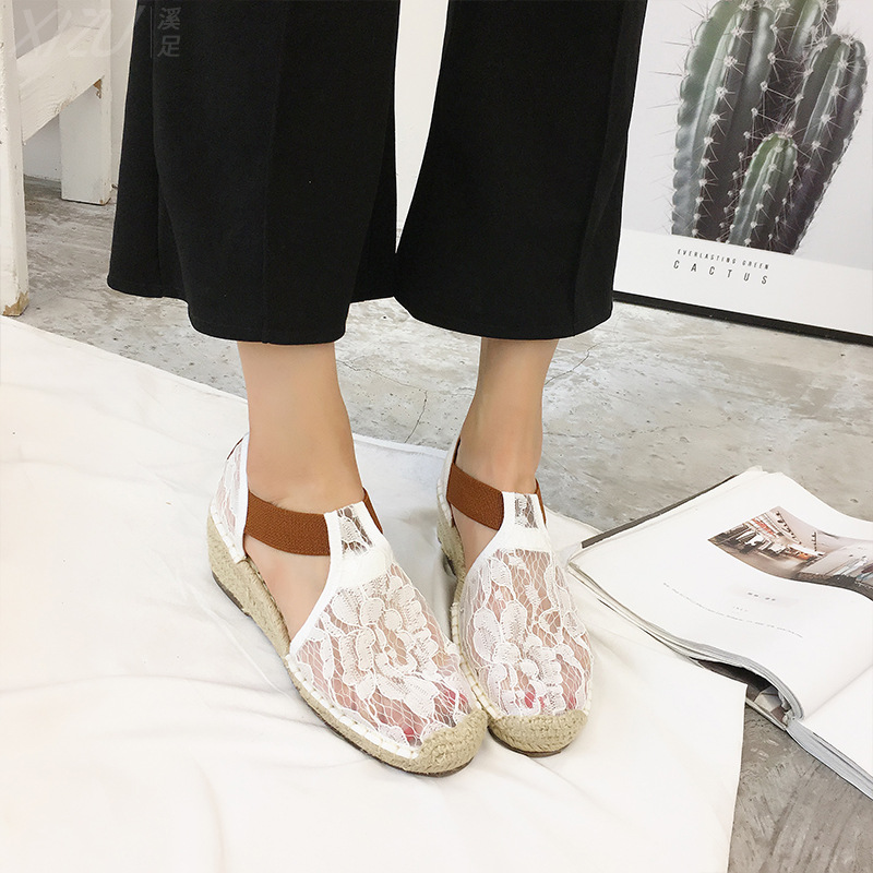 Jookrrix White Shoe Women chaussure Fashion Brand Fisherman Shoe Lady Espadrille Girl alpargatas female footware Wedges Sandal criss cross espadrille wedges