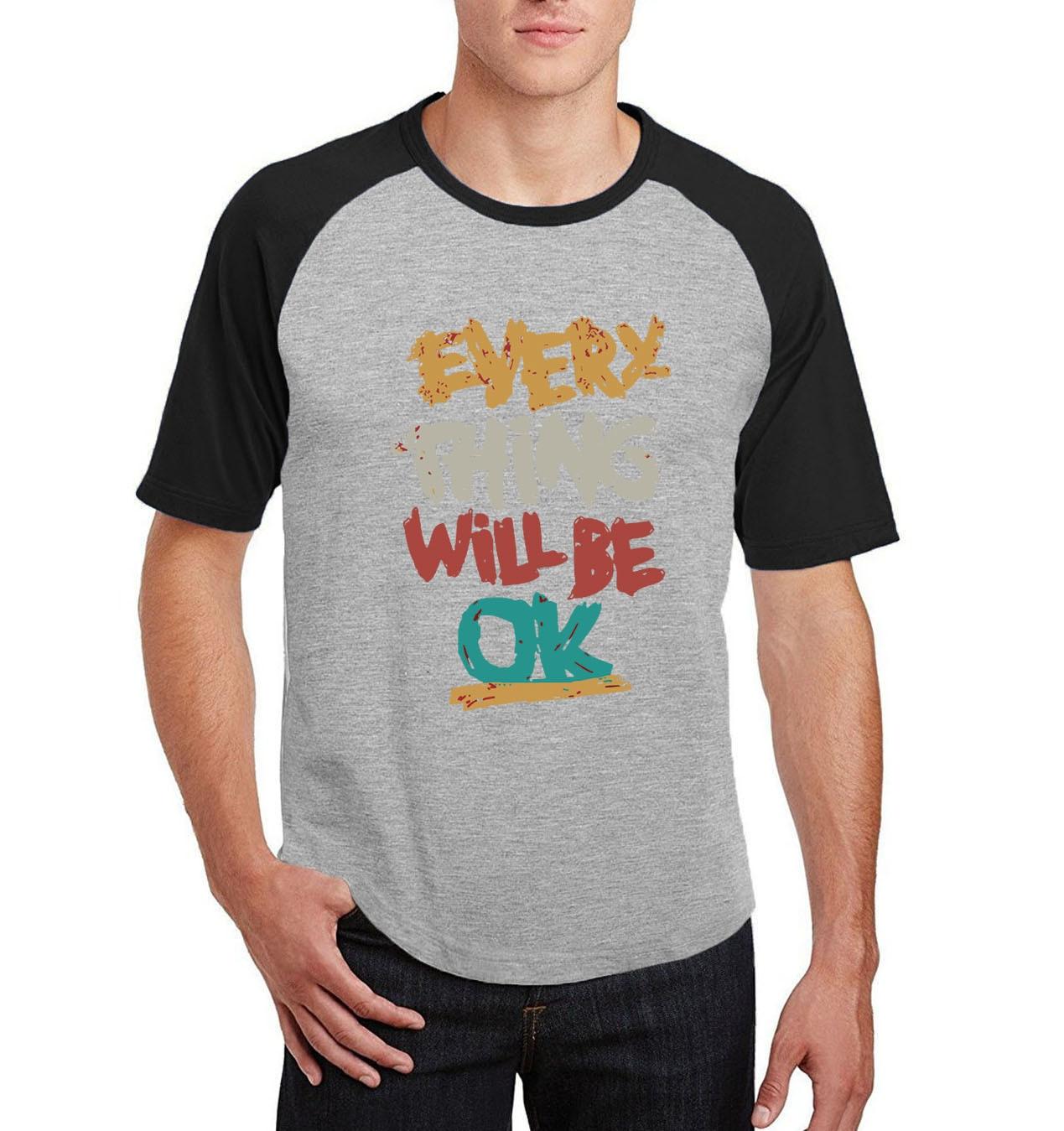 f6fbfe7c99ec2a Krótki rękaw marka koszulki 2019 lato każdy rzeczą będzie ok odzież z  nadrukiem raglan bawełna o-neck t shirt mężczyźni hio- hop fitness