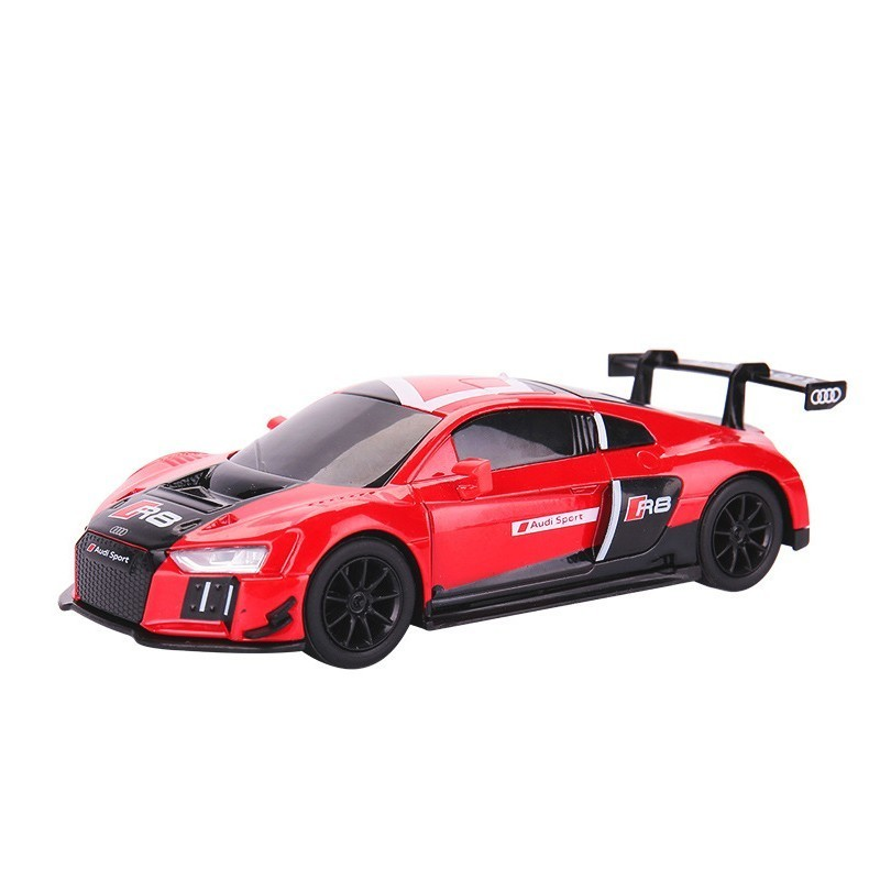 1/32 Caipo Aud-R8 Diecast Alloy Metal Pull Back Car High Simulation Toys For Children Vehicle Automobile Model Hot Gifts Wheelsi