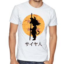 Fashion Men Dragon Ball Z Vegeta Son Goku Printed T Shirt Anime Short Sleeve O-neck cool Tops Tee  T-Shirt Hipster