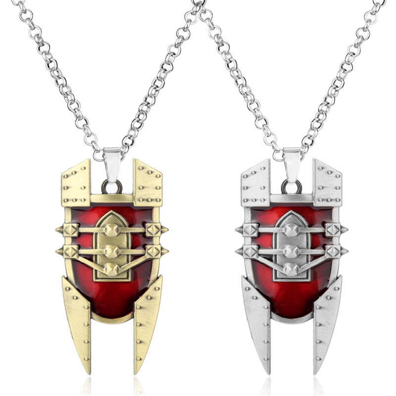 dongsheng LO L the Mad Chemist Singed red Shield intricate Pendant Necklace durable Necklace attractive design chaveiro-30