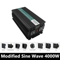 Grid Tie 4000W Modified Sine Wave Inverter,DC 12V/24V/48V To AC110V/220V,off Grid Solar Inverter,voltage Converter