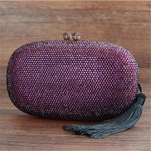 Luxus Marke Designer Vintage Diamant Abendtasche Mode Frauen Quaste Tag Kupplung Partei Kleid Handtaschen Handtasche Kette Umhängetaschen