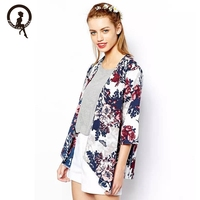 2017 Super Deal Summer Autumn Sexy Tops Fashion Women S Printed Chiffon Kimono Outwear Casual Tops