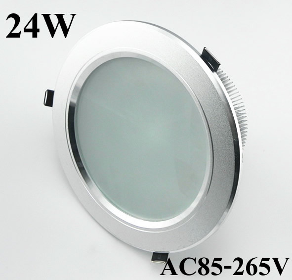 cheap for discount 540aa fad5e US $299.0 |10p/lot High Power 24W 1000lm LED downlight / led recessed  ceiling down light lamp for living room flush mount free shipping-in  Downlights ...