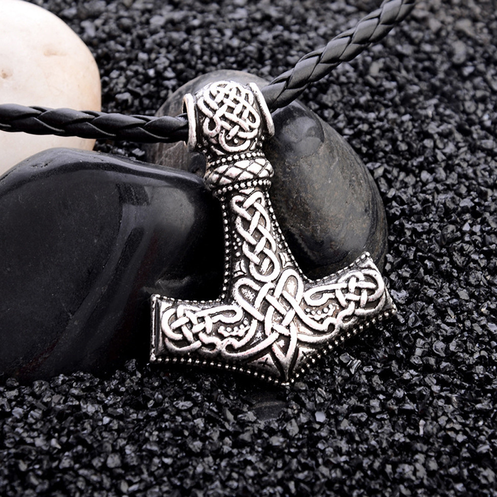 Vikings Mjolnir and Rune Wheel Norse Mythology Symbol Cute Cat Ear Cropped Hoodie Sweatshirt for Women Teen Girls
