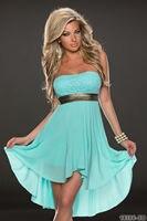 Strapless Chiffon Sexy Summer Dress 5 Colors 5 Size Party Dresses Club Women Dress Bodycon Dresses