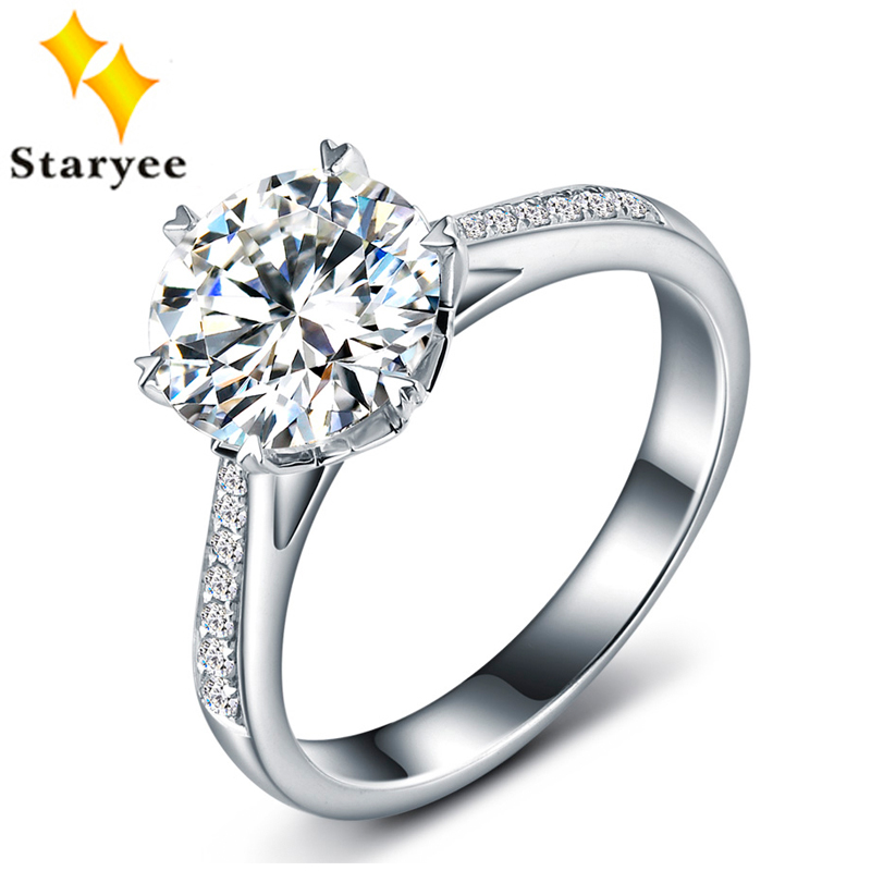 Certified One Carat Forever One Moissanite Jewelry Pure 18K White Gold Natural Diamond Women Wedding Engagement
